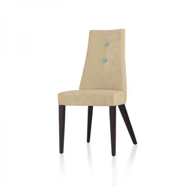 Chaise contemporaine en tissu et piétement bois - Park - 8