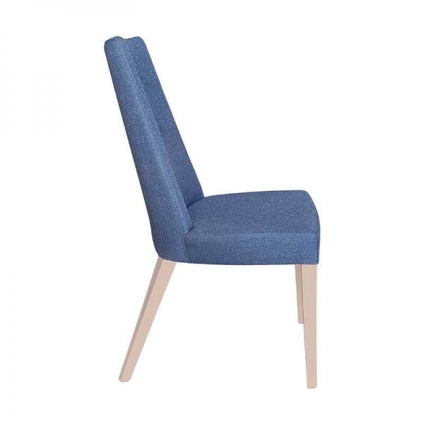 Chaise en tissu bleu et pieds bois naturel - Park - 11