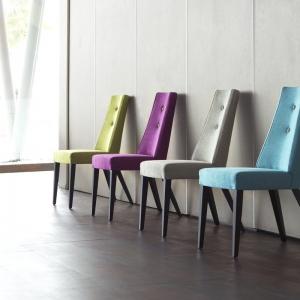 Chaise en tissu et pieds bois - Park