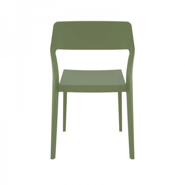 Chaise empilable en polypropylène vert olive - Snow - 26