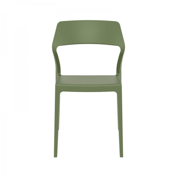 Chaise design en polypropylène vert olive - Snow - 25