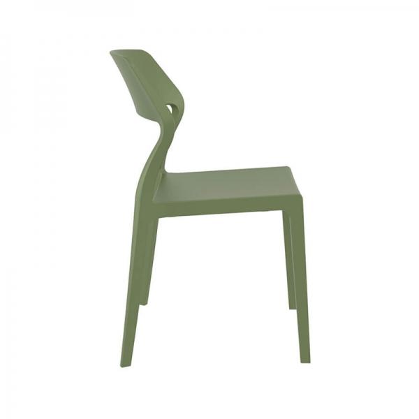 Chaise empilable tendance en polypropylène vert olive - Snow - 27
