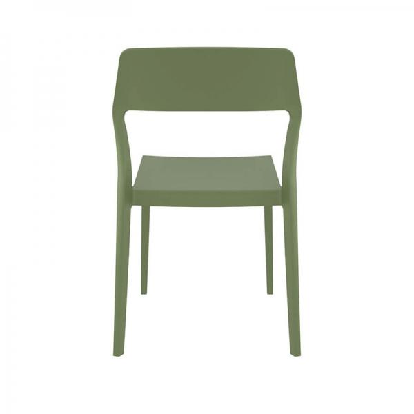 Chaise de jardin empilable en polypropylène vert olive - Snow - 24