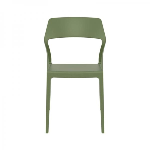 Chaise de terrasse design en polypropylène vert olive - Snow - 23