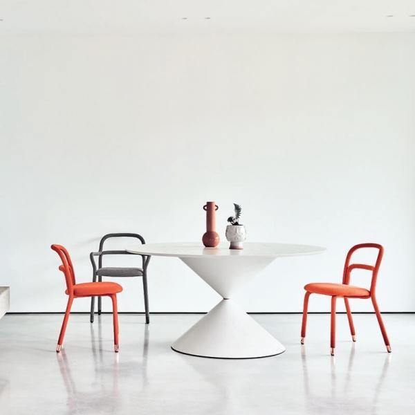 Table de salle à manger ronde design en bois - Clessidra Midj - 1