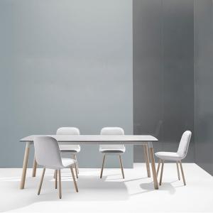 Table céramique avec pieds bois - Köln Mobliberica