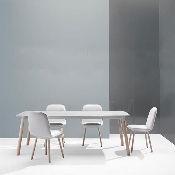 Table céramique avec pieds bois - Köln Mobliberica - 1