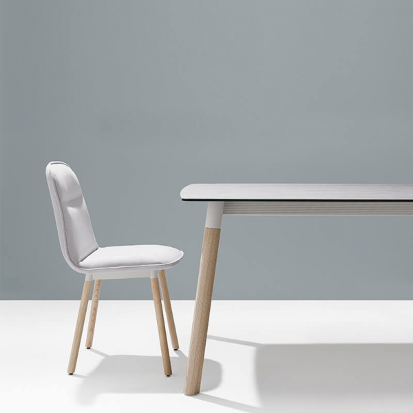 Table de salle à manger en céramique avec pieds bois - Köln Mobliberica - 2