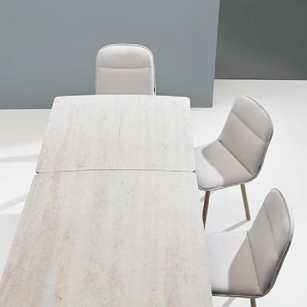 Table espagnole extensible en céramique et bois - Köln Mobliberica - 5
