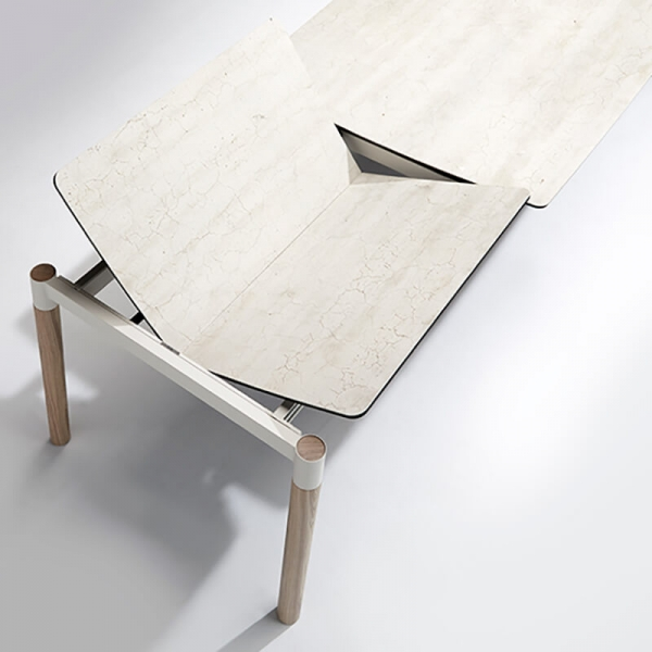 Table Mobliberica extensible en céramique et bois - Köln - 3