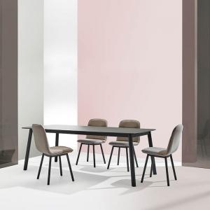 Table de salle à manger en céramique et pieds métal - Köln Mobliberica