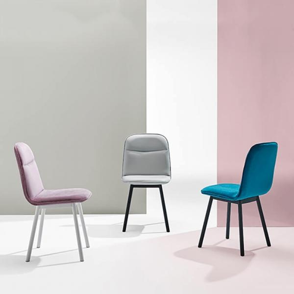 Chaise moderne en tissu et pieds métal - Köln Mobliberica - 1