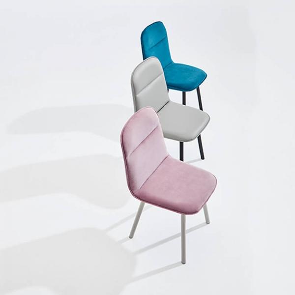 Chaise moderne en tissu et pieds métal - Köln Mobliberica - 2