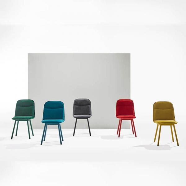 Chaise moderne en tissu et pieds métal - Köln Mobliberica - 3