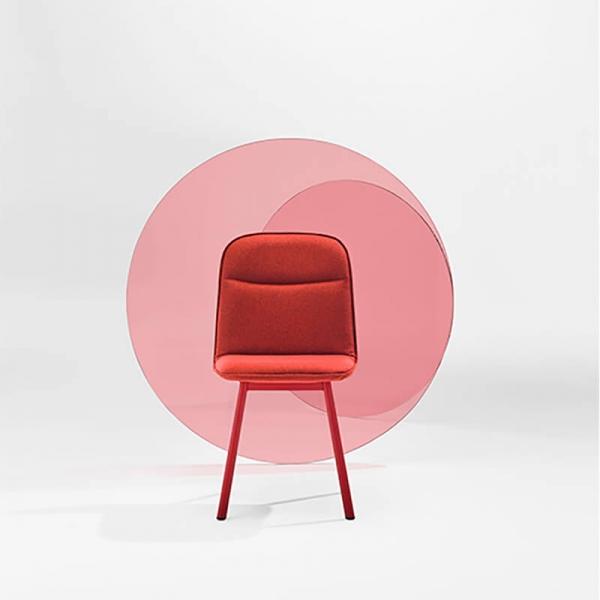 Chaise moderne en tissu et pieds métal - Köln Mobliberica - 4