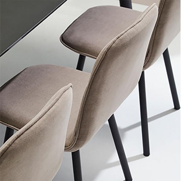Chaise moderne en tissu et pieds métal - Köln Mobliberica - 5
