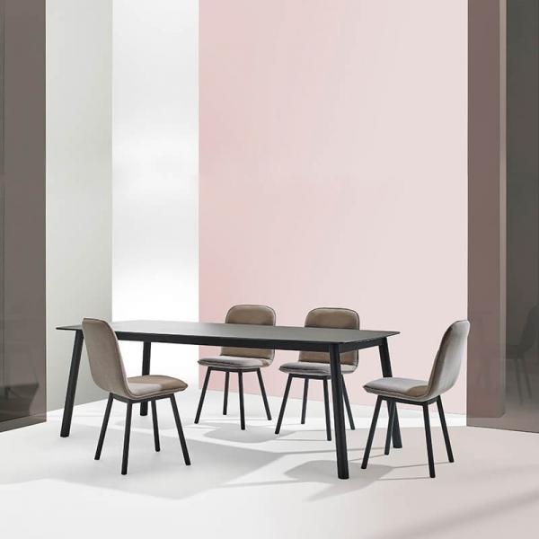 Chaise moderne en tissu et pieds métal - Köln Mobliberica - 6