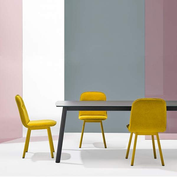 Chaise moderne en tissu et pieds métal - Köln Mobliberica - 7