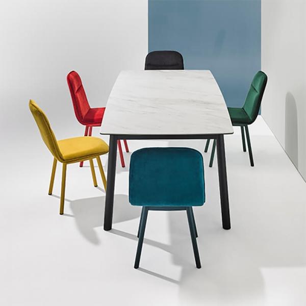 Chaise moderne en tissu et pieds métal - Köln Mobliberica - 8