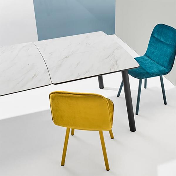 Chaise moderne en tissu et pieds métal - Köln Mobliberica - 9