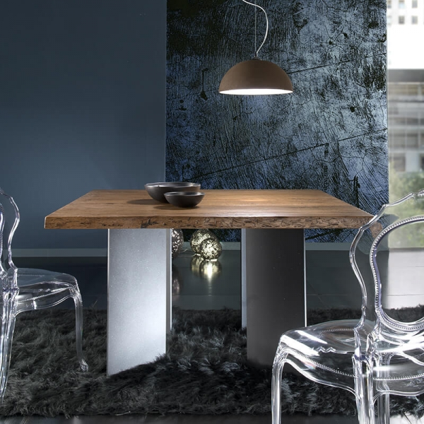 Table de salle à manger industrielle carrée - 14.00 - 1
