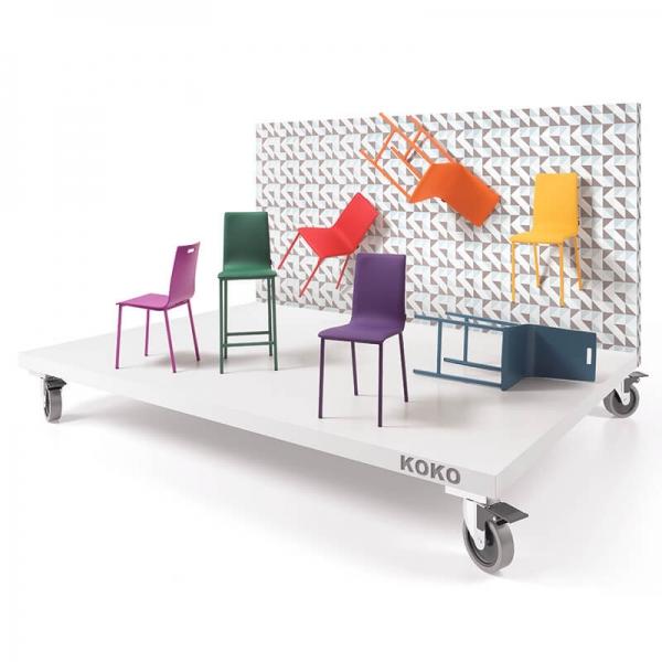 Chaise moderne rembourrée colorée - Koko Moblibérica® - 2