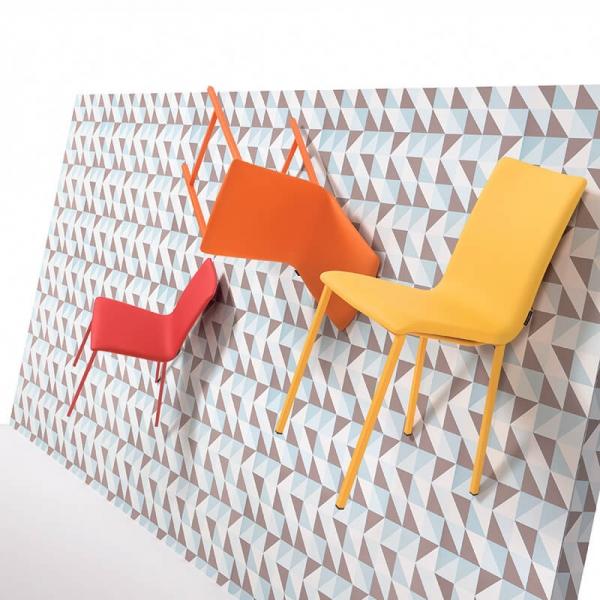 Chaise contemporaine rembourrée colorée - Koko Moblibérica® - 1