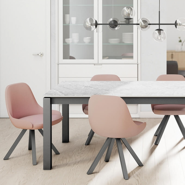 Table rectangulaire avec pieds en métal - Lakera - 5