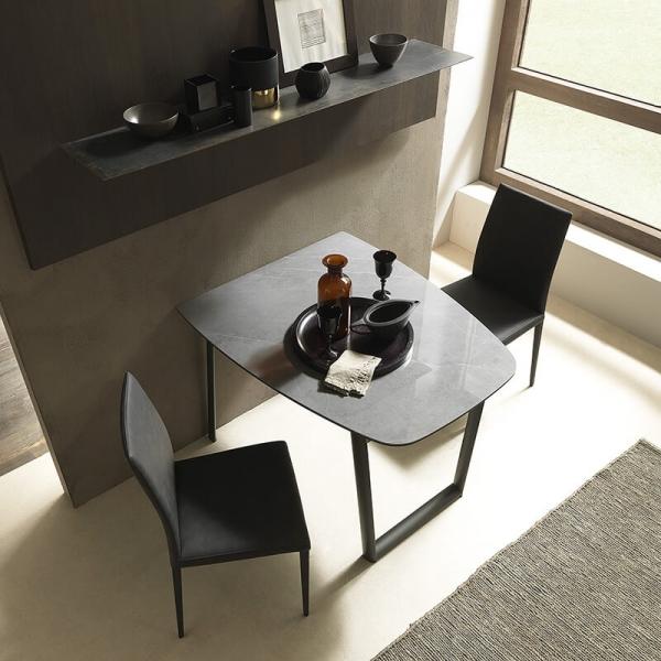 Table petit espace en céramique et métal - Ribot - 3