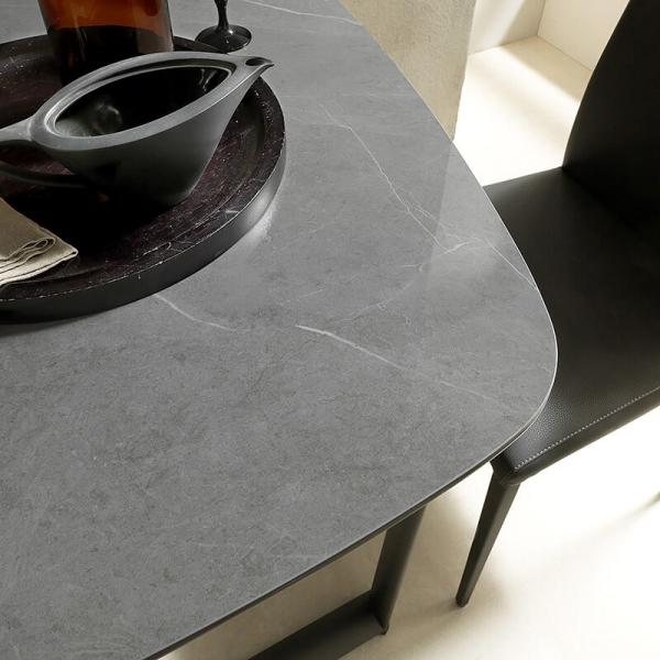 Table petit espace en céramique et métal - Ribot - 4