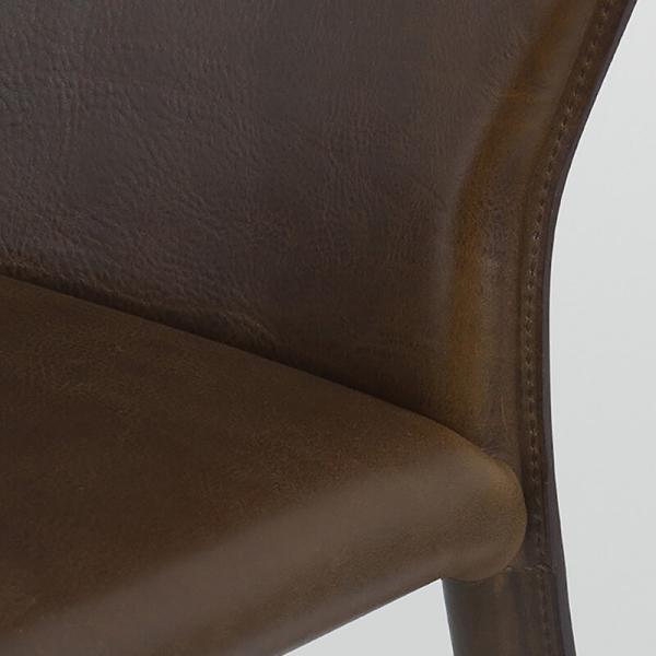 chaise en croûte de cuir - Maryl - 6