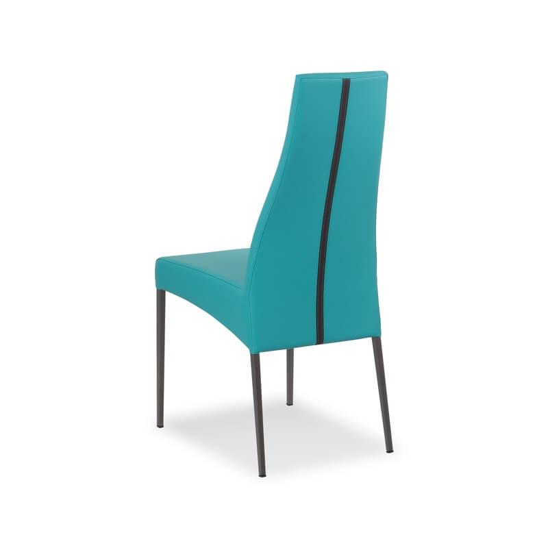 Chaise en cuir de salle à manger italienne - Carla   4 ...