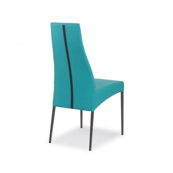 chaise italienne de salle à manger en cuir - Carla - 9