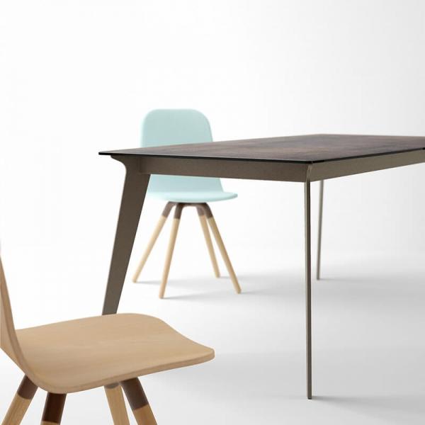 table plateau céramique et pieds métal Infiné - 4
