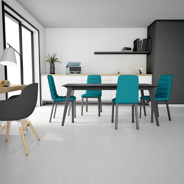 table de salle à manger en céramique et métal Infiné - 3
