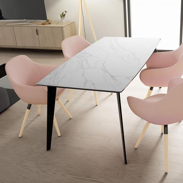 Table de salle manger plateau en c ramique infinity - Table salle a manger plateau ceramique ...