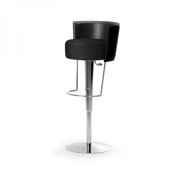 Tabouret réglable design Bongo Midj en synthétique noir - Bongo Midj® - 3