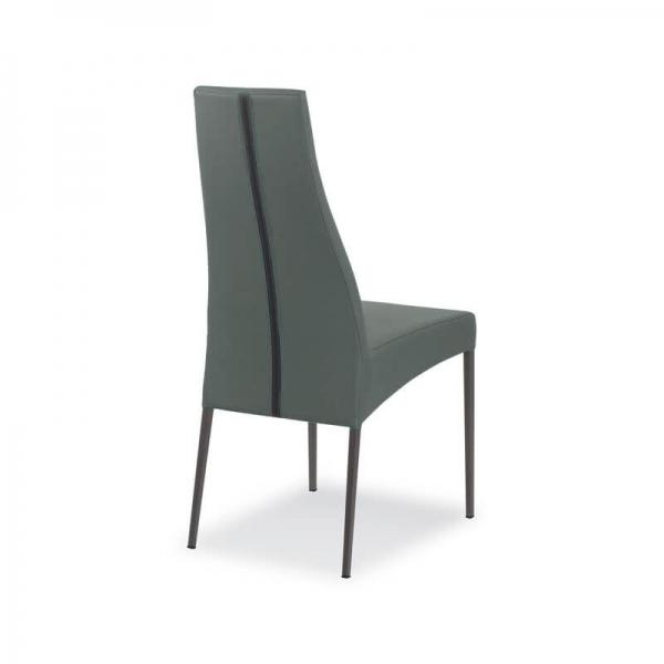 chaise italienne de salle à manger en cuir - Carla - 4