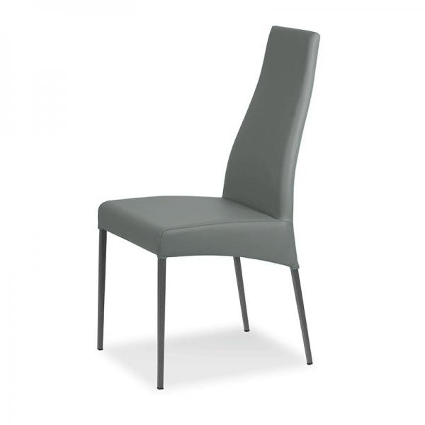 chaise cuir design italien - Carla - 2