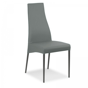 chaise en cuir fabrication italienne - Carla