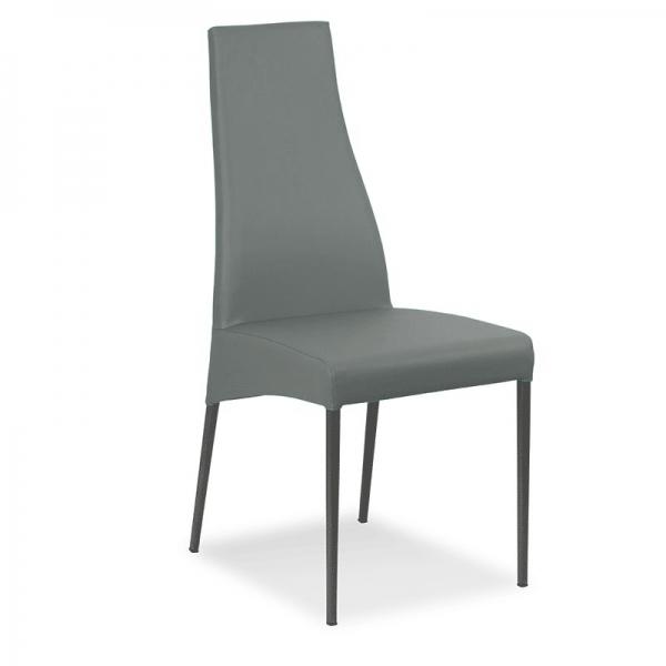 chaise en cuir fabrication italienne - Carla - 1