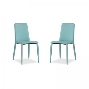 chaise en croûte de cuir de salle à manger Ely 2