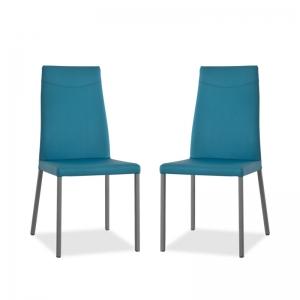 chaise italienne en cuir pour salle à manger