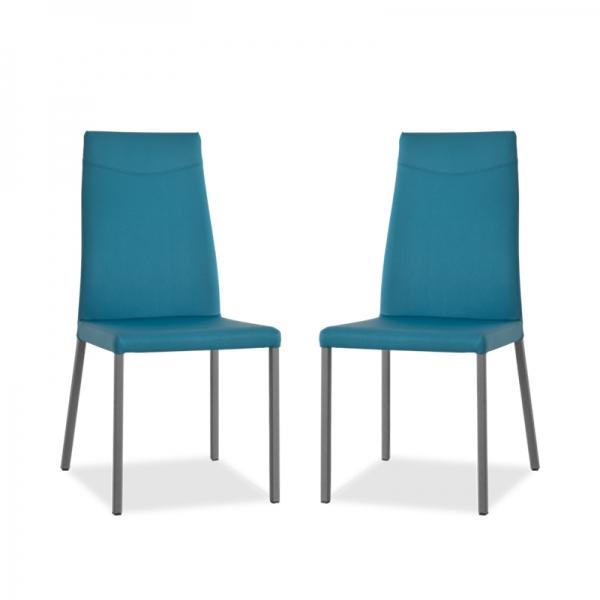 chaise italienne en cuir pour salle à manger - 1