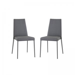chaise matelassée pour salle à manger contemporaine