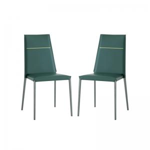chaise en croûte de cuir style contemporain