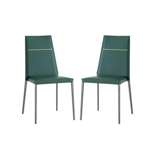 chaise en croûte de cuir style contemporain - 1