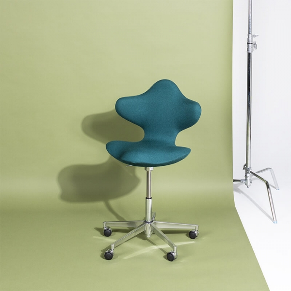 Chaise de bureau ergonomique en tissu vert et métal - Active Varier® - 1
