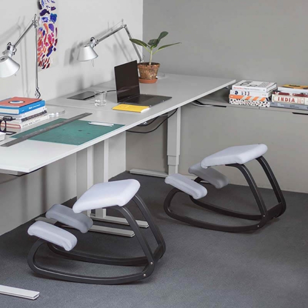 Chaise de bureau ergonomique blanche - Variable Varier® - 4