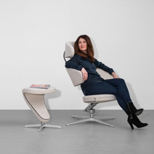 Fauteuil de relaxation ergonomique blanc - Peel Varier® - 2